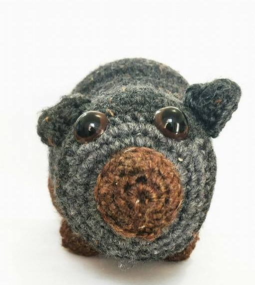 Crocheted Wool Wombat