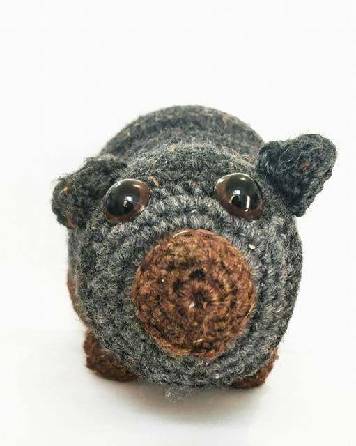 Crocheted Wool Wombat