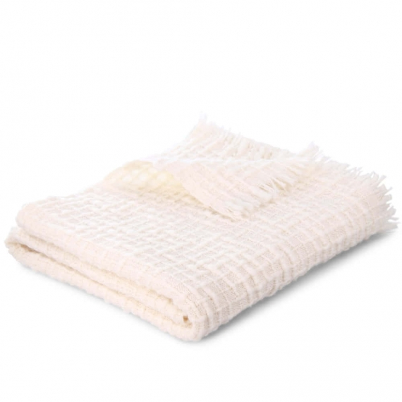DLUX Handloomed Wool Baby Wrap Ivory