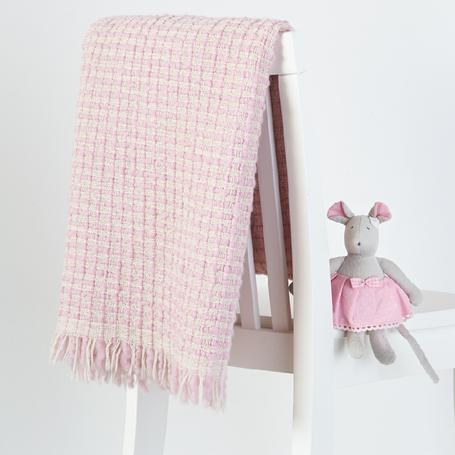DLUX Handloomed Wool Baby Wrap Pink