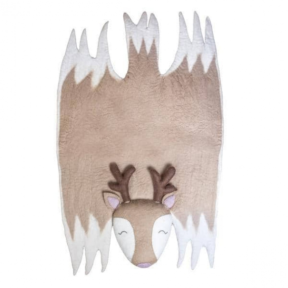 Felted Wool Deer Rug