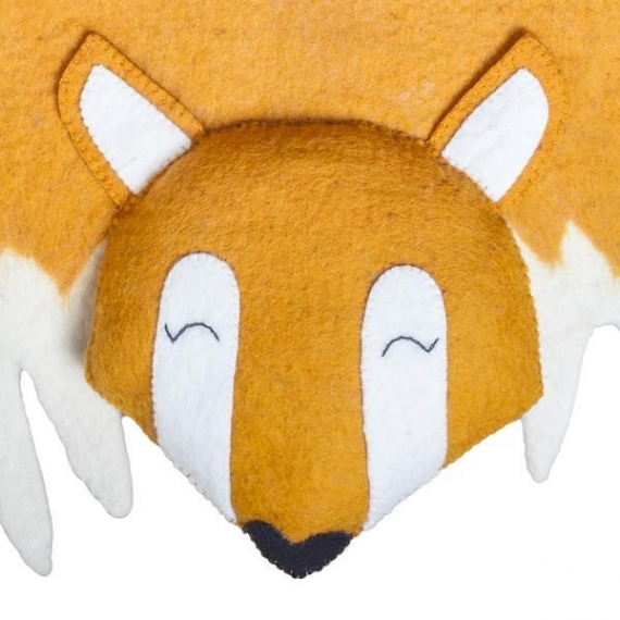 Felted Wool fox Rug