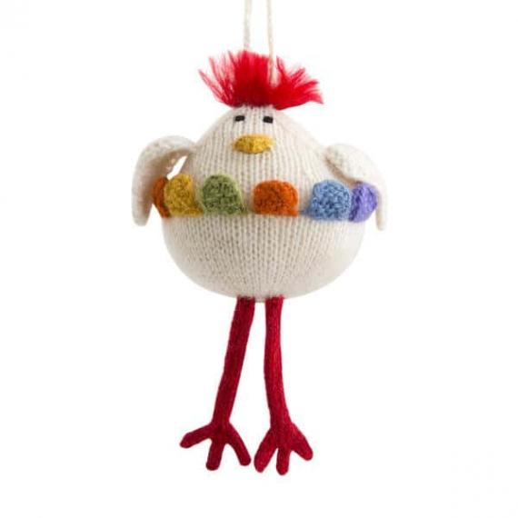 Knitted Alpaca & Wool Chicken