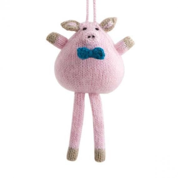 Knitted Alpaca & Wool Pig