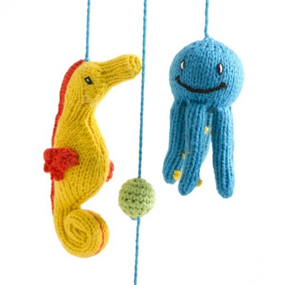 Knitted Sea Animal Mobile
