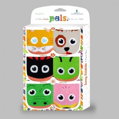 Pals Toddlers 3pk Sunny Sidekicks Socks