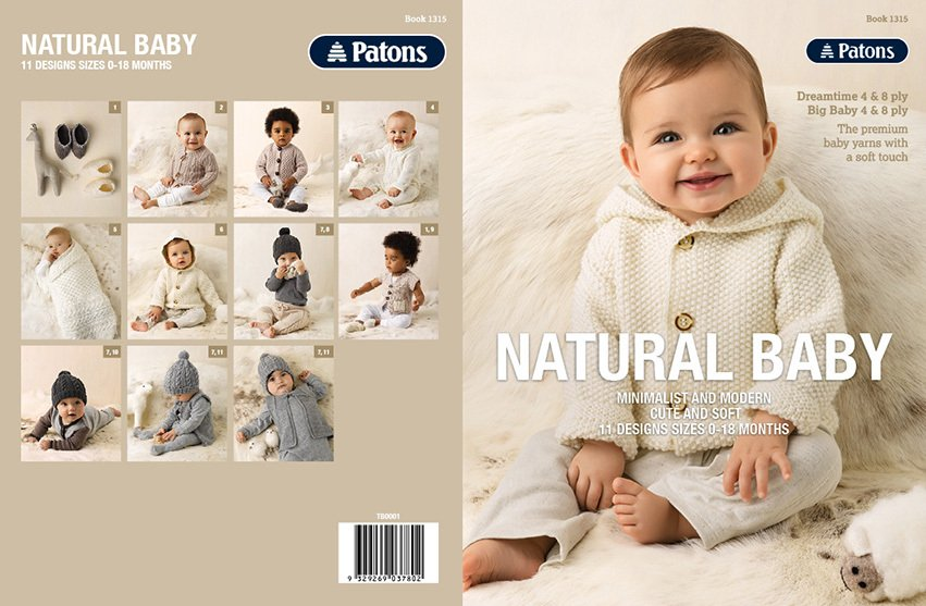 Patons Natural Baby 4 & 8 ply