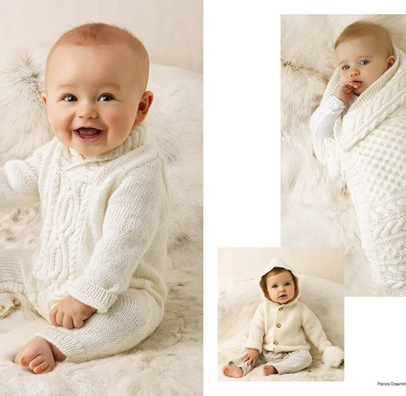 Patons Natural Baby 4 & 8 ply