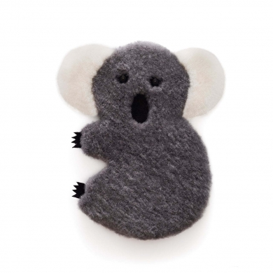 Sheepskin Koala Toy - Grey