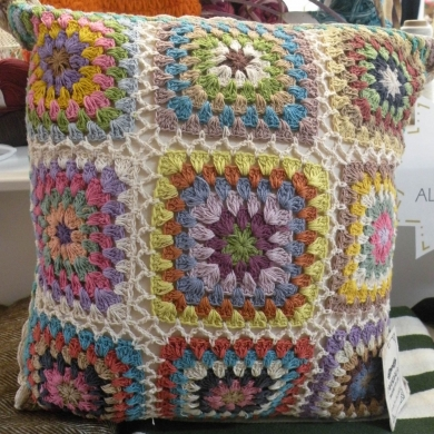 Crochet Cotton Cushion 40x40