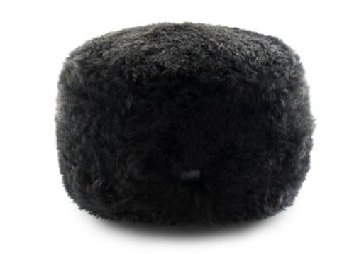 Sheepskin Ottoman Medium Black