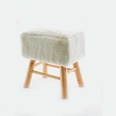 Sheepskin Stool Square Natural