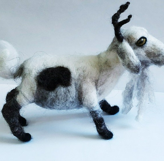 Felted Wool Goat