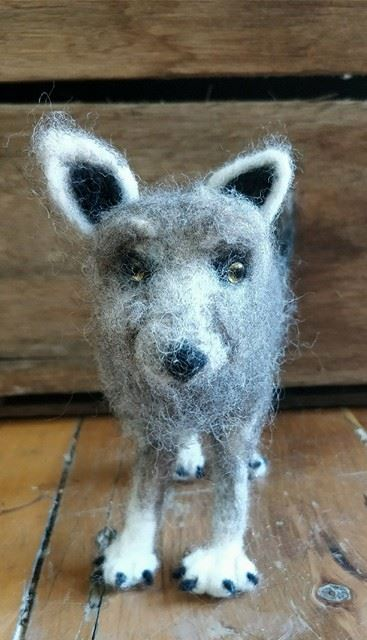 Felted Wool Wolf