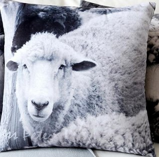 Sheep Print Cushion