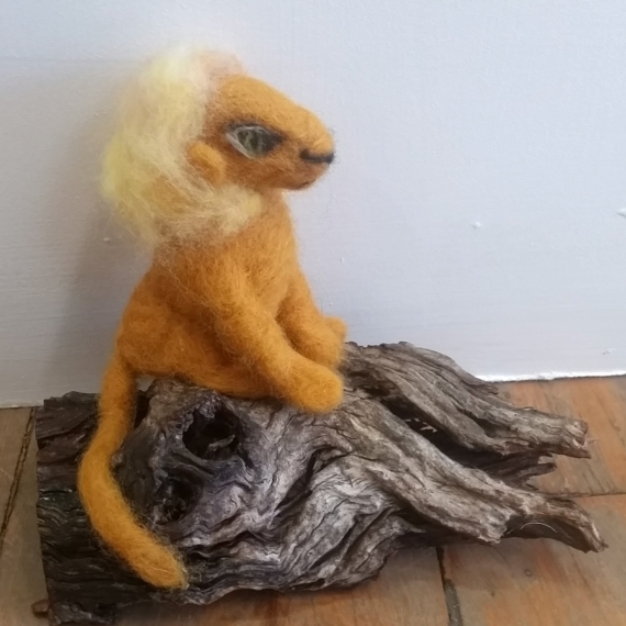 Felted Wool Lion