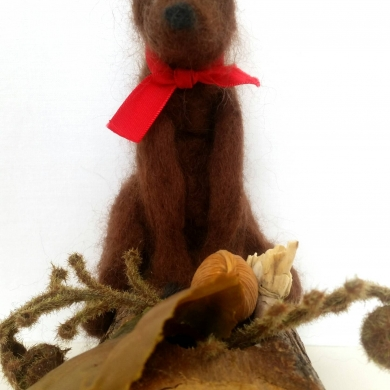 Felted Wool Bear