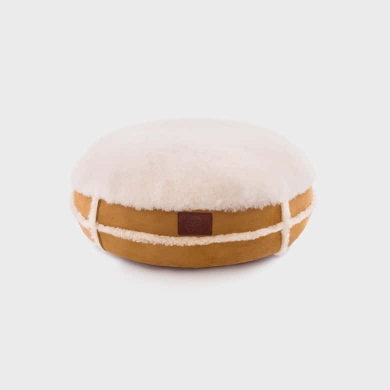 Sheepskin & Suede Ottoman Small