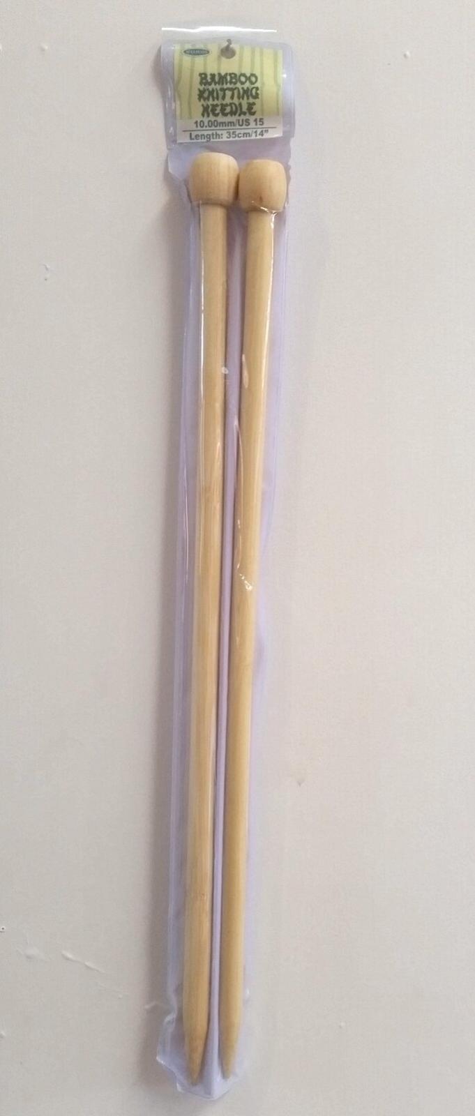 10.00mm Bamboo Needles 35cm