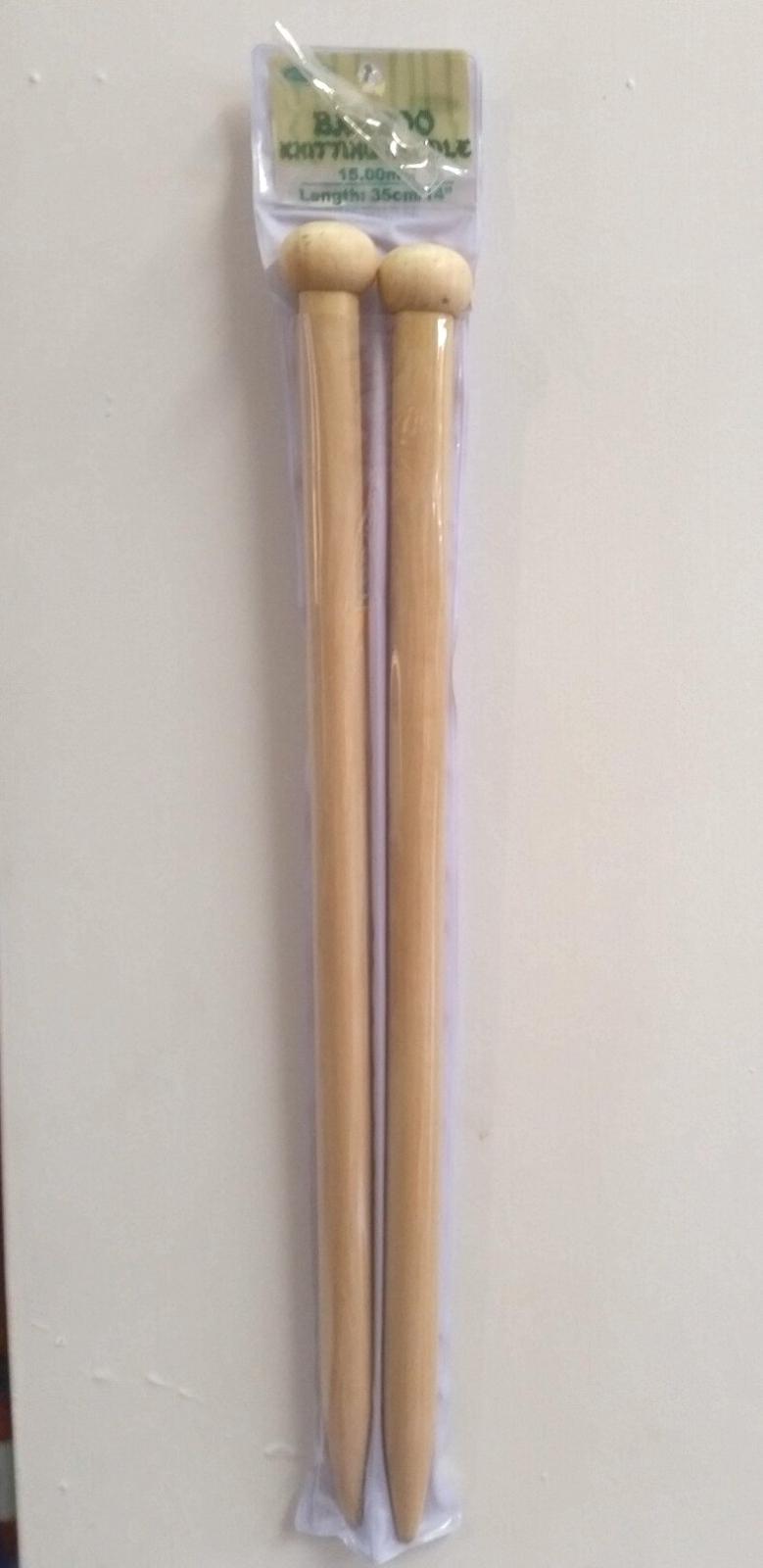 15.00mm Bamboo Needles 35cm