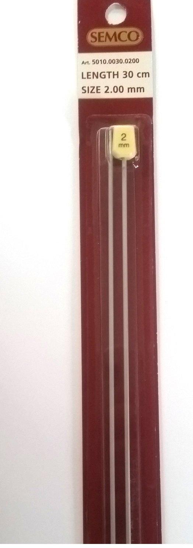 2.00mm Aluminum Knitting Needles 30cm