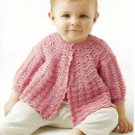 2 ply baby Shawl & Jacket Pattern