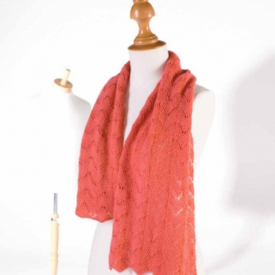 2 ply Lace Shawl Scarf Pattern
