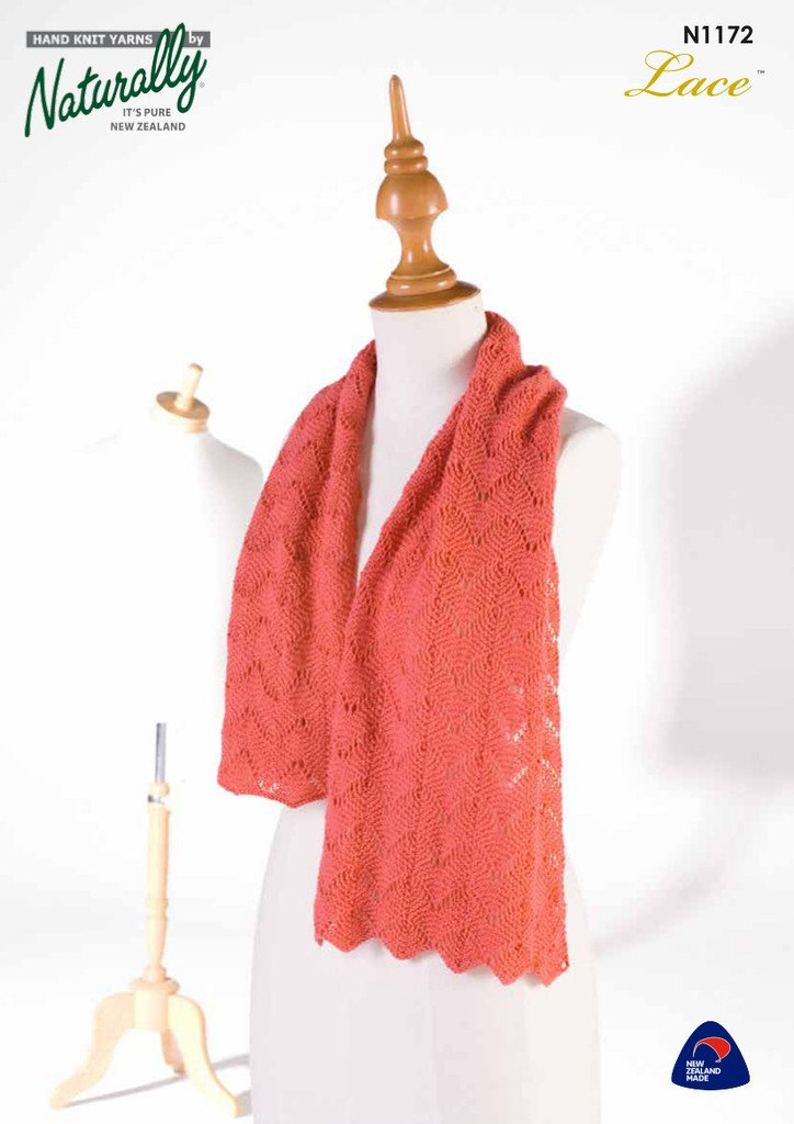 Buy 2 Ply Lace Shawl Scarf Pattern Afterpay Zip The Wool Room
