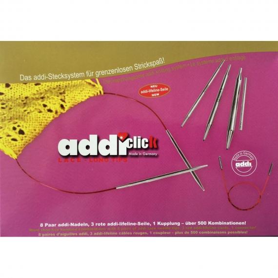 Addi Click Lace / Rocket Long Tips Needle Set
