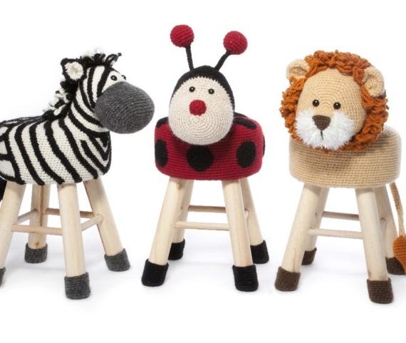 Animal Stool Crochet part 2 - Anja Toone