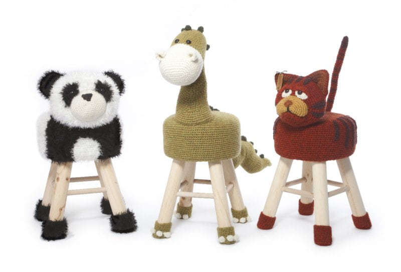 Animal Stool Crochet part 2 - Anja Toone