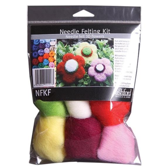 Ashford Needle Felted Flower Kit