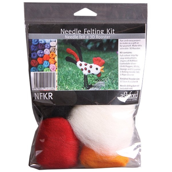 Ashford Needle Felted Rooster Kit