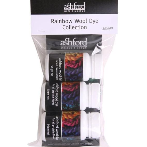 Ashford Rainbow Dye Kit 3 pack 50g
