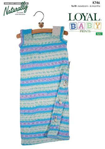 Baby Sleeping Bag 4 ply pattern
