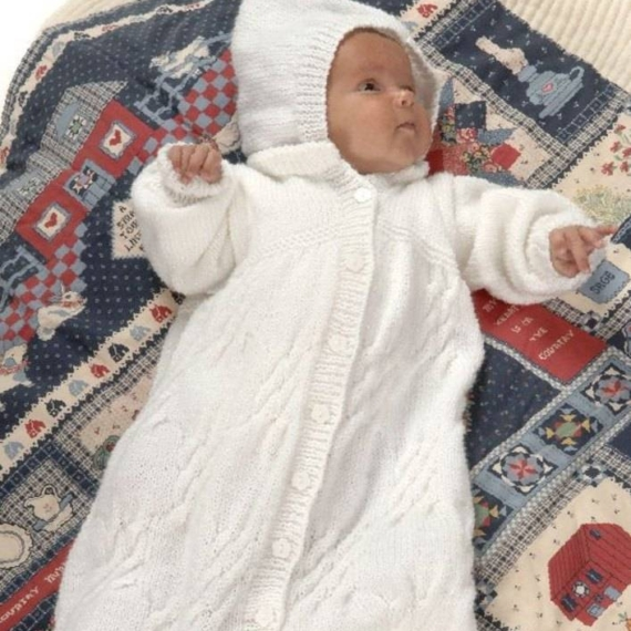 Baby Sleeping Bag 8 ply pattern