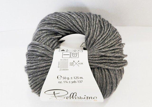 Bellissimo Extra Fine Merino 8  - Grey Marl