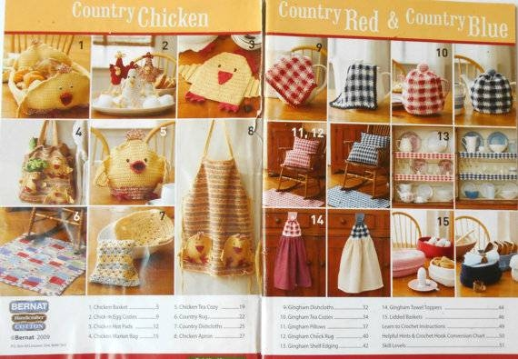 Bernat Cotton Country Kitchen Crochet