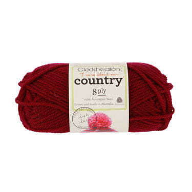 Cleckheaton Country 8 Ply Maroon - 0018
