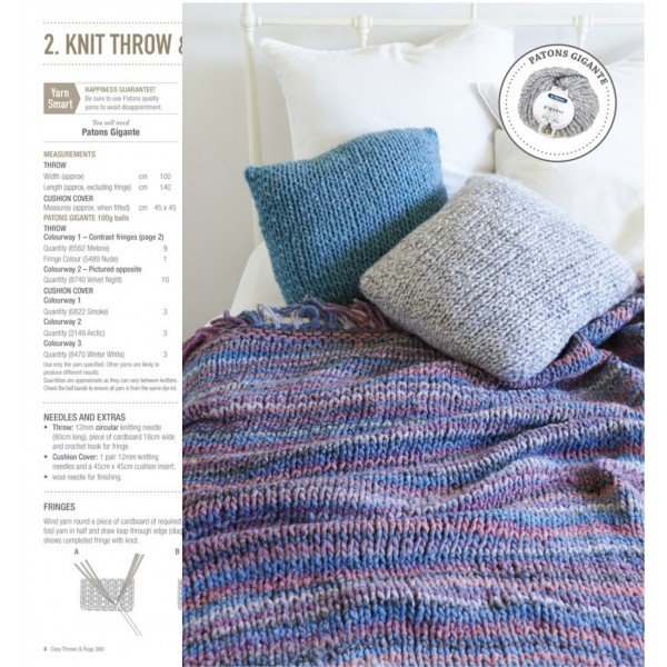 Buy Cleckheaton Cosy Throws Rugs Knit Crochet Afterpay Zip