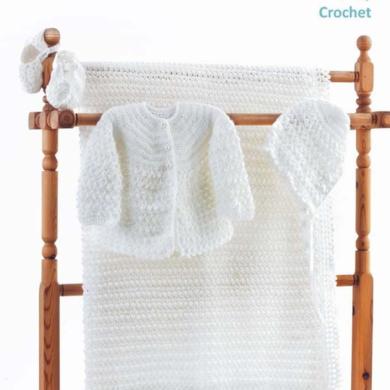 Crochet 4ply Baby Shawl Set