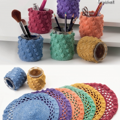Crochet Place mats & Jar Covers 8ply