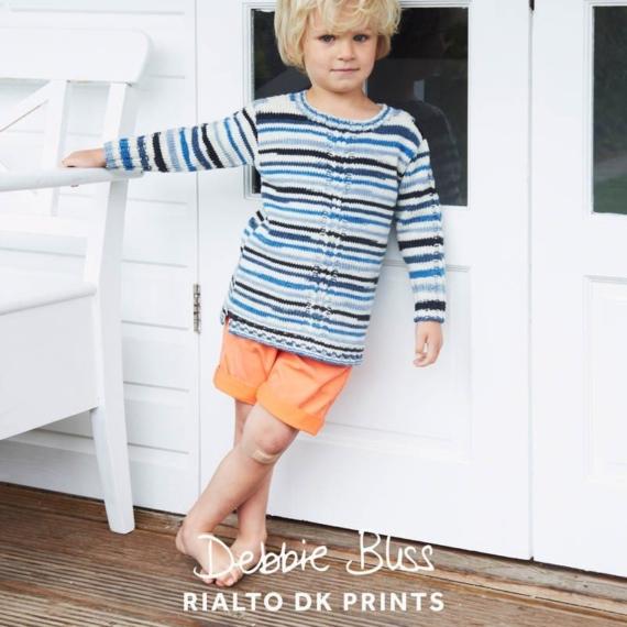 Debbie Bliss Rialto DK Prints Pattern - Cable Sweater
