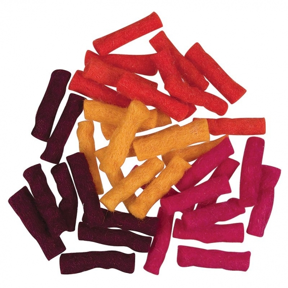 Felt Wool Sticks 40 Pack - Autumn