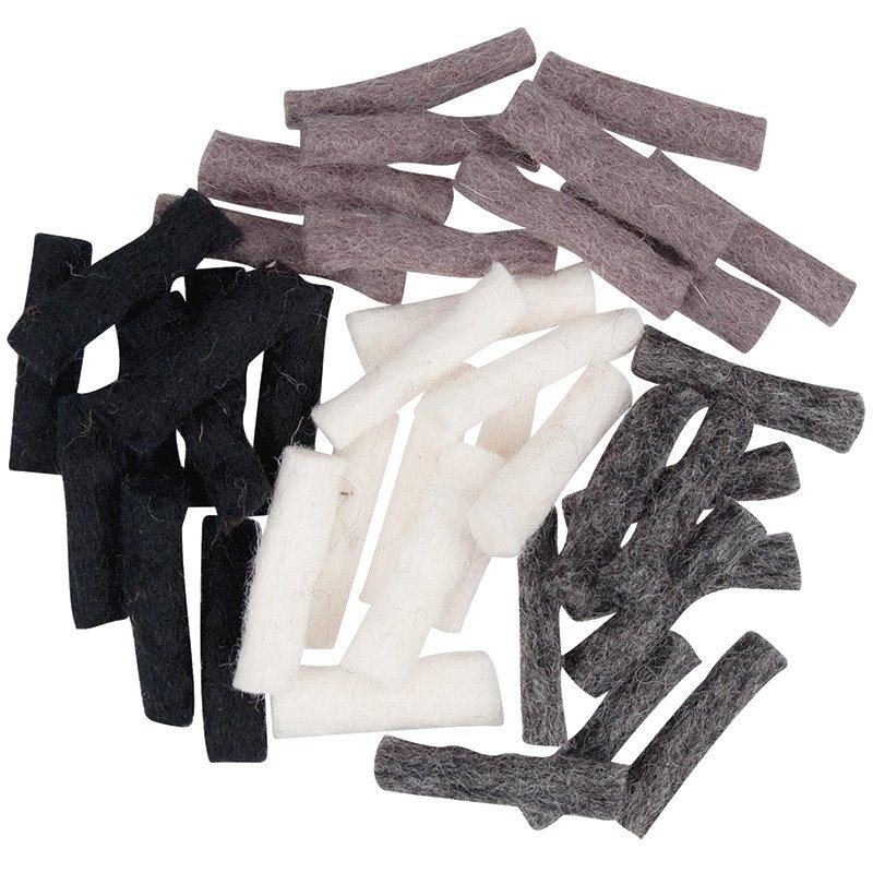 Felt Wool Sticks 40 Pack - Winter