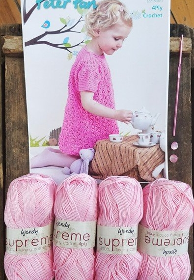 Girls Crochet Dress Kit