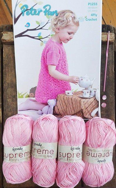 Girls Crochet Dress Kit