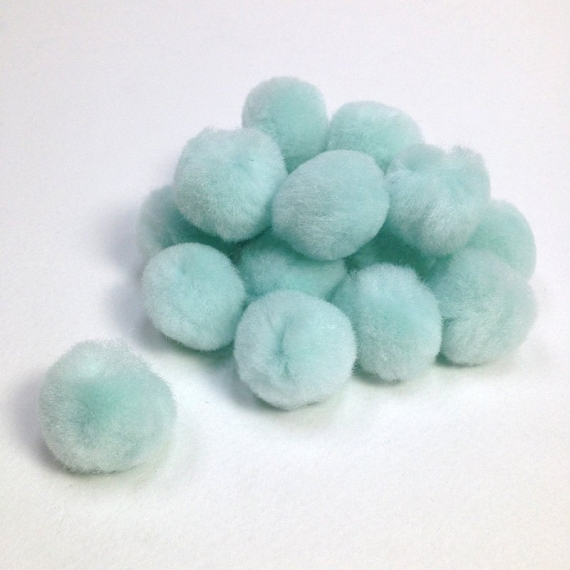 Glow In The Dark Pom Poms 25mm