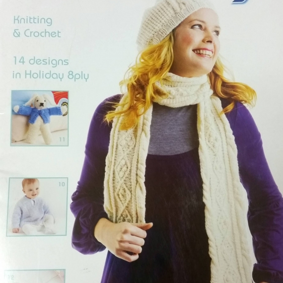 Holiday 8 ply Knitting & Crochet Book
