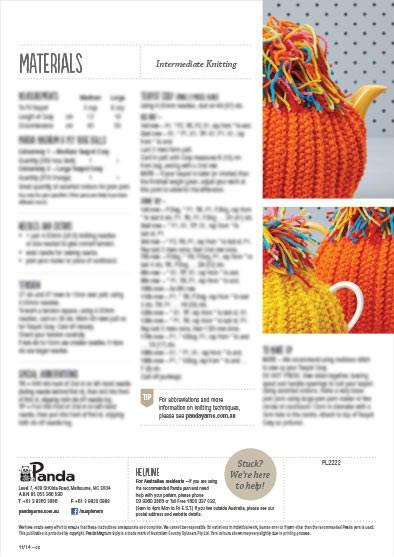 Knitted Tea Cosy Leaflet